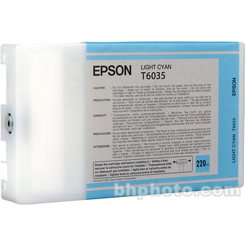 Epson UltraChrome K3 Light Cyan Ink Cartridge (220 ml) T603500