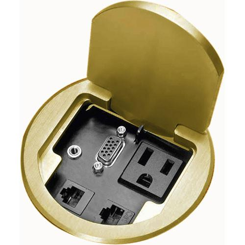 FSR T3-PC1BRS Table Box for Single User (Brass) T3-PC1-BRS