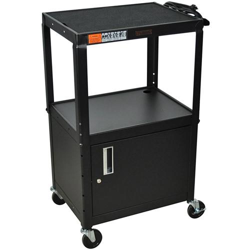 H. Wilson W42ACE Utility Cart w/Locking Cabinet - W42ACE