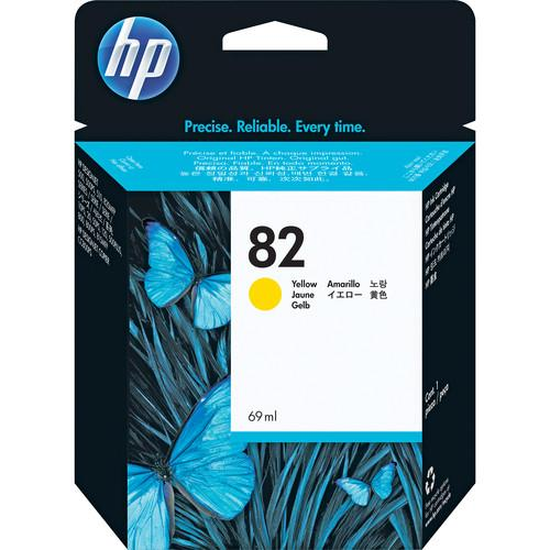 HP 82 Yellow Ink Cartridge (69ml) for DJ 500SP & C4913A