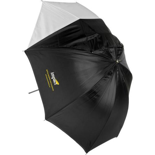 Impact Convertible Umbrella - White Satin with Removable Black