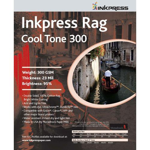 Inkpress Media Photo Rag Cool Tone Paper (300gsm) PRCT300121225, Inkpress, Media, Photo, Rag, Cool, Tone, Paper, 300gsm, PRCT300121225