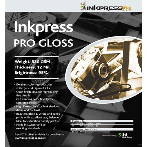 Inkpress Media Pro Gloss Paper (330gsm) for Inkjet - PG17100