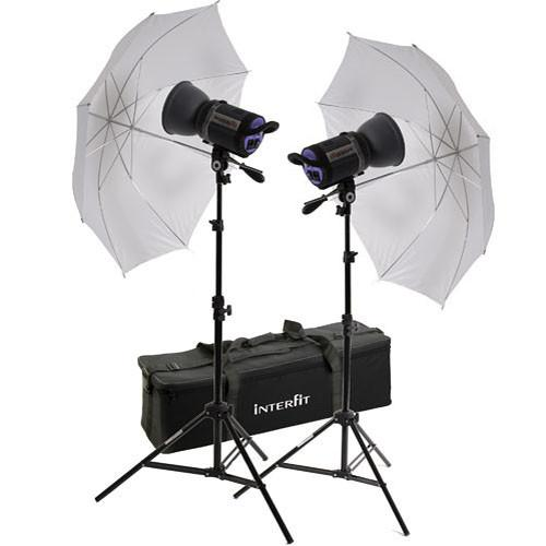 Interfit 750-X Two Floodlight Umbrella Kit INT157