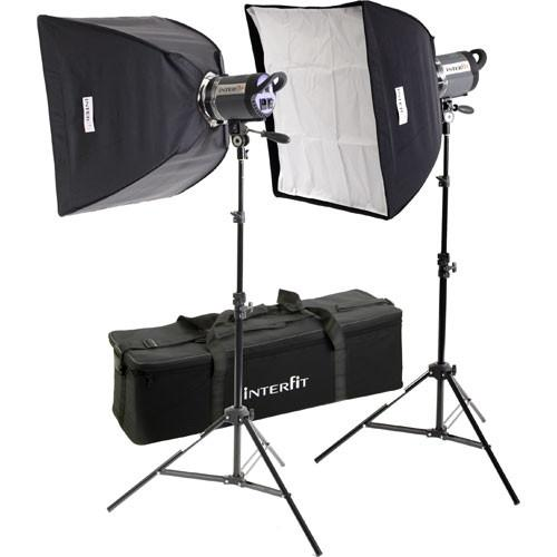 Interfit Stellar Tungsten Two-Light Twin Softbox Kit INT188U