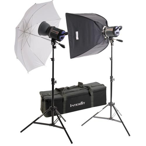 Interfit Stellar Tungsten Two-Light Umbrella-Softbox Kit INT187U