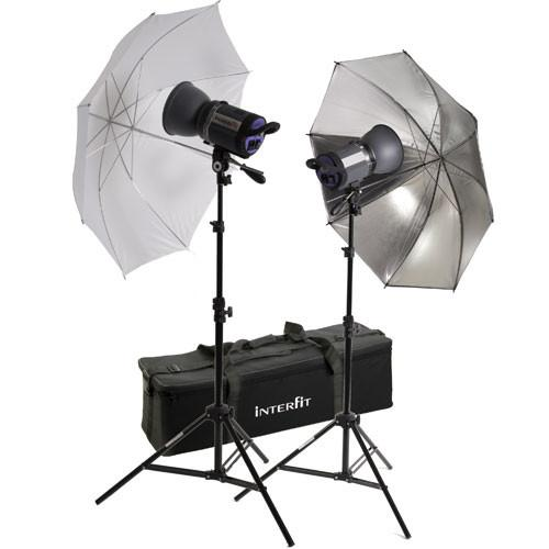 Interfit Stellar X 150 Flash Two Monolight Umbrella Kit INT416