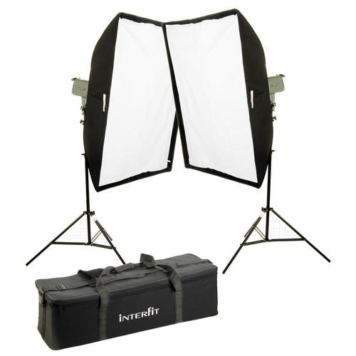 Interfit Stellar X Solarlite Two-Softbox (Medium) Kit INT196U
