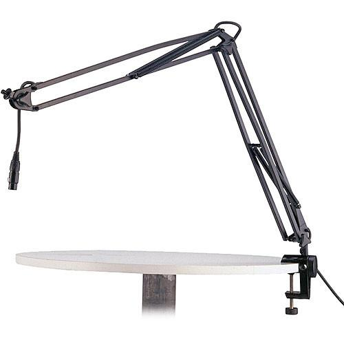 K&M 23850 Broadcast Microphone Desk Arm and Clamp 23850-311-55