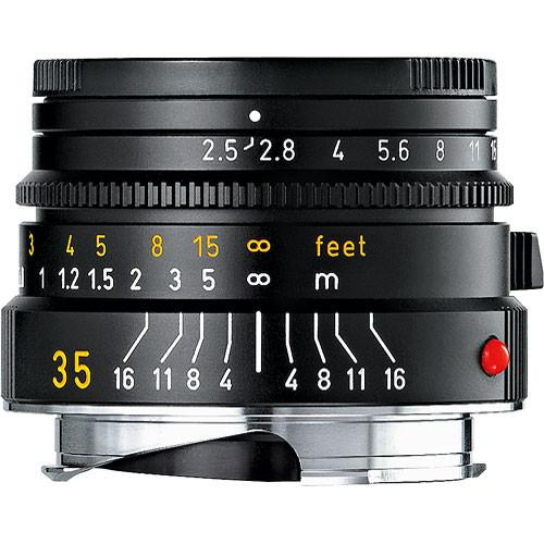 Leica 35mm f/2.5 Summarit-M Manual Focus Lens (Black) 11-643