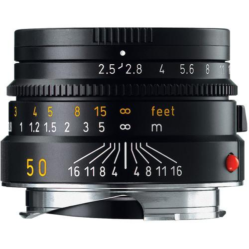 Leica 50mm f/2.5 Summarit-M Manual Focus Lens (Black) 11-644