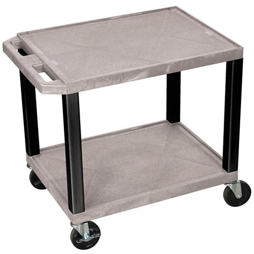 Luxor WT26GYE-B Tuffy Open Shelf A/V Cart WT26GYE-B