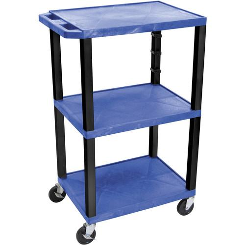 Luxor  WT42EBL Tuffy Open Shelf Cart WT42BUE-B