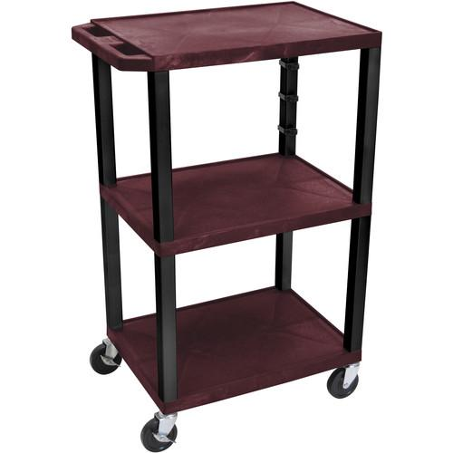 Luxor  WT42EBU Tuffy Open Shelf Cart WT42BYE-B
