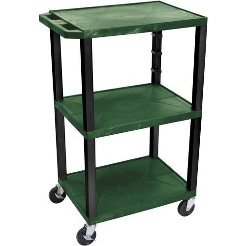 Luxor  WT42EGR Tuffy Open Shelf Cart WT42HGE-B