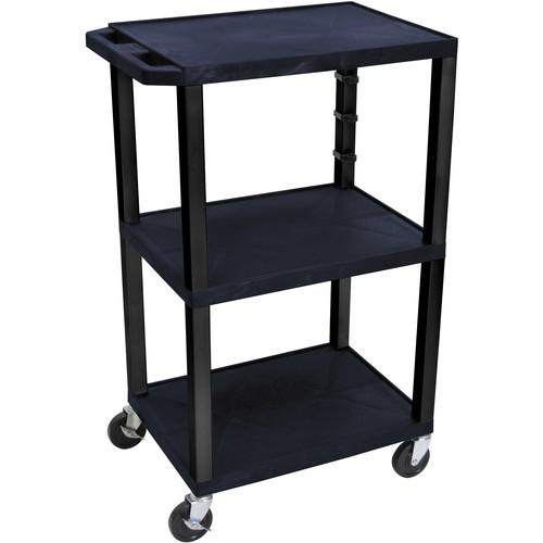 Luxor  WT42ETB Tuffy Open Shelf Cart WT42ZE-B