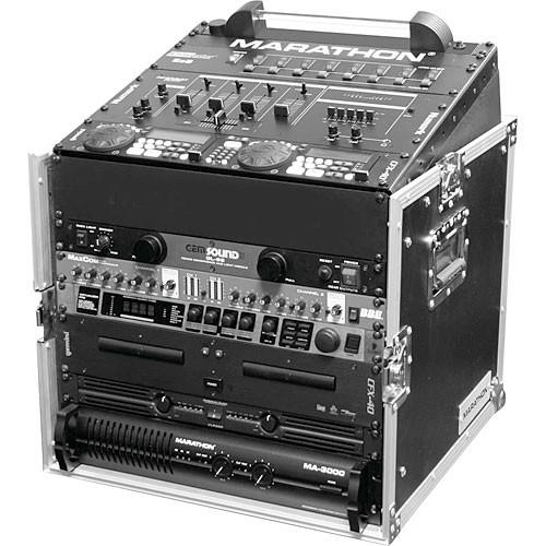 Marathon MA-M10U Flight Road 10U Slant Mixer Rack Combo MA-M10U