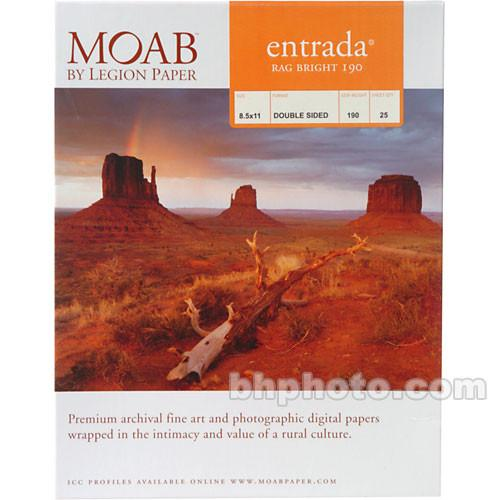 Moab  Entrada Rag Bright 190 Paper for Inkjet
