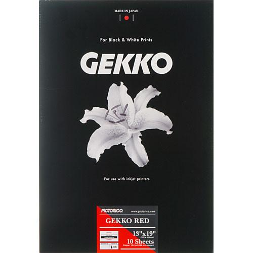 Pictorico Gekko Red Paper (265gsm) for Inkjet - 13 x PICT35016
