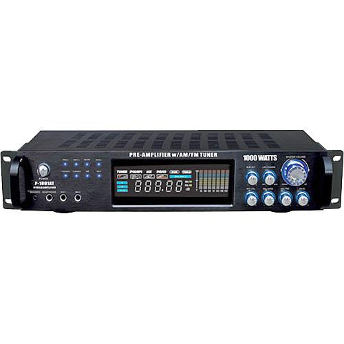 Pyle Pro P1001AT 1000W Hybrid Pre-Amplifier with AM/FM P1001AT
