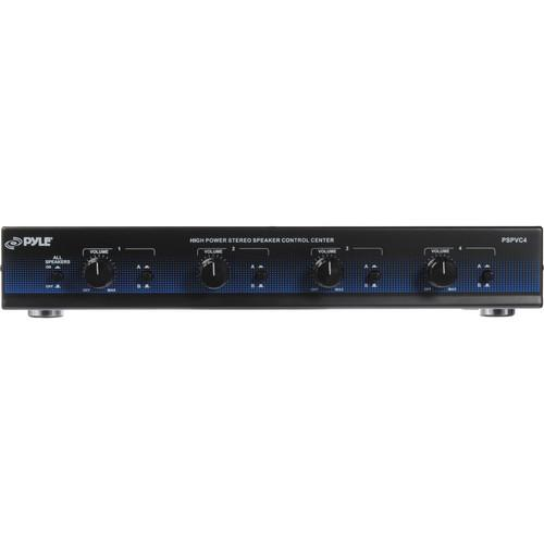 Pyle Pro PSPVC4 4-Channel High Power Speaker Selector PSPVC4