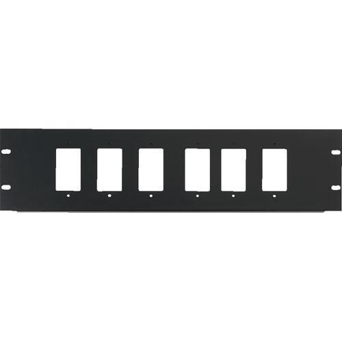 Raxxess  3U Six Decora Device Rack Panel DCR-3X6