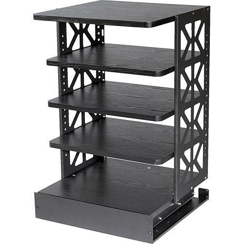 Raxxess WROTR-36B Wood Rotating Rack System (Black) WROTR-36B