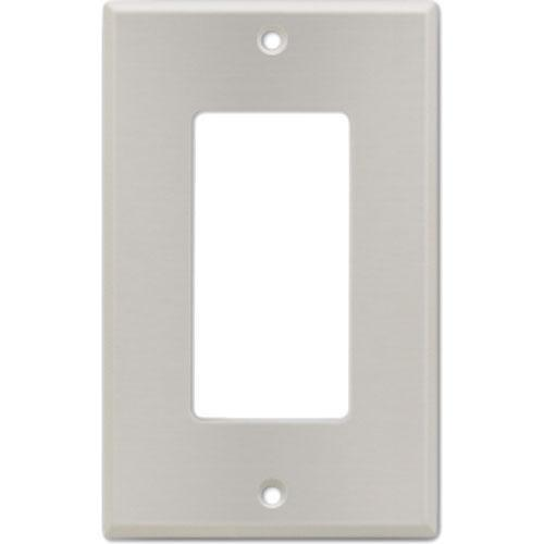 RDL CP-1S Stainless Steel Single Cover Wall Plate (Silver) CP-1S