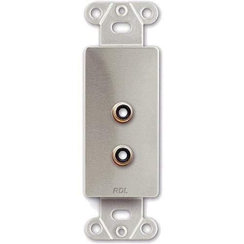 RDL DS-PHN2 Dual RCA Jack on Decora Wall Plate - Solder DS-PHN2