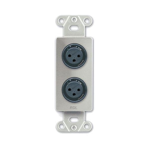 RDL DS-XLR2F Decora Wall Plate with Dual XLR 3-Pin DS-XLR2F