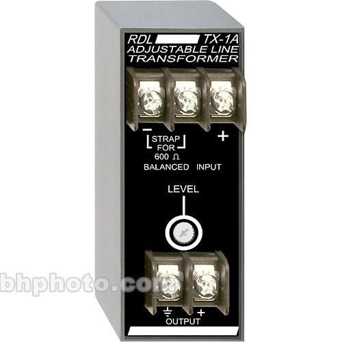 RDL TX-1A Balanced to Unbalanced Transformer (Adjustable) TX-1A