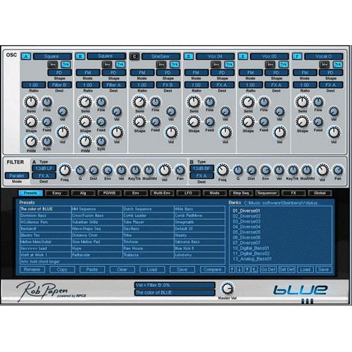 Rob Papen BLUE - Cross Fusion Virtual Synthesizer RPBLUE02