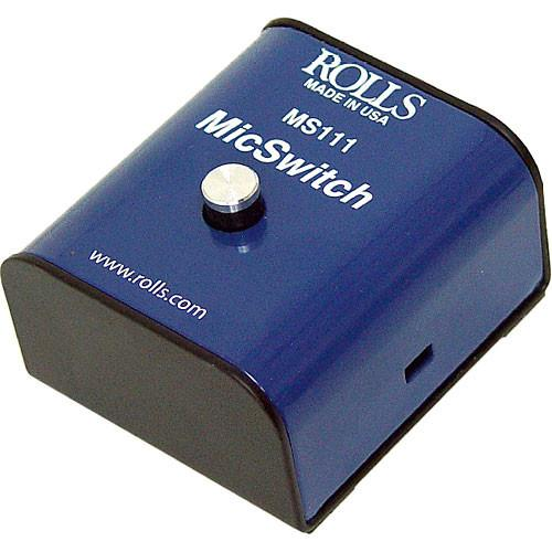 Rolls MS111 Mic Switch - Latching or Momentary Microphone MS111