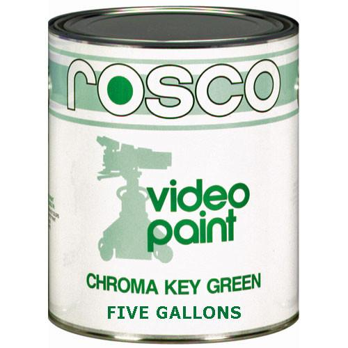 Rosco Chroma Key Paint (Green, 5 Gallons) 150057110640
