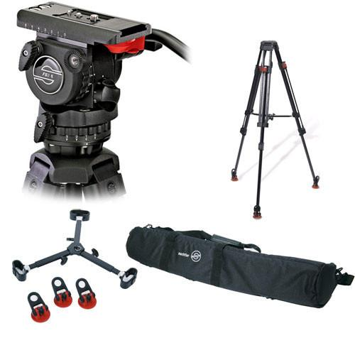 Sachtler 0450 FSB-6T Head with 75CF Tripod and Mid-Level 0450