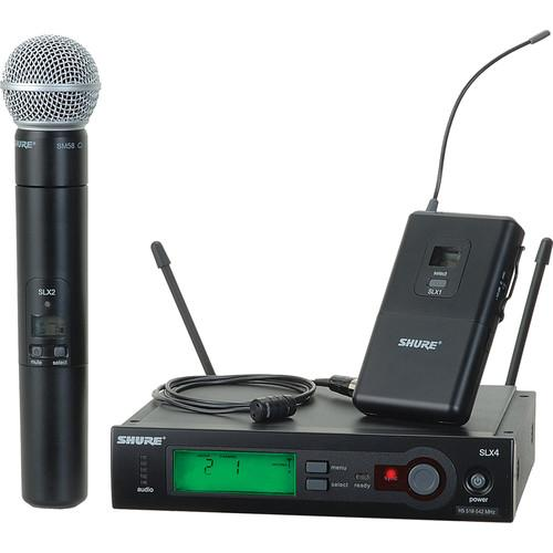 Shure SLX Series Dual Wireless Handheld Microphone and Lavalier