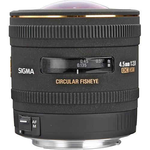 Sigma 4.5mm f/2.8 EX DC HSM Lens for Canon Digital SLR 486-101