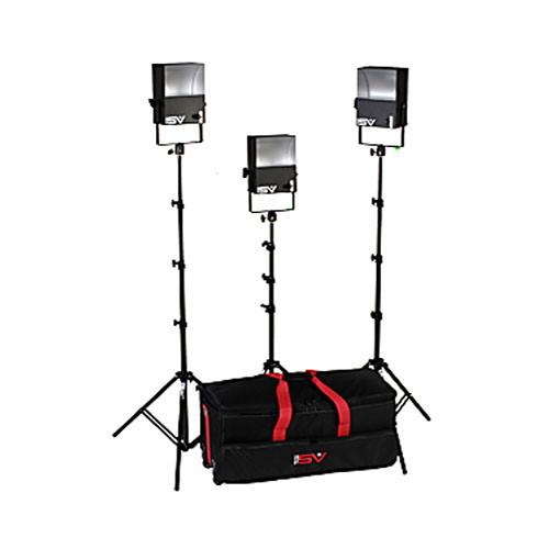 Smith-Victor SL300 3-Light 1800 Watt Softlight Location Kit