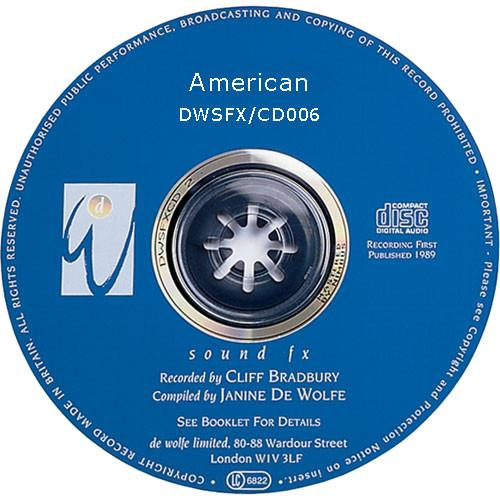Sound Ideas Sampled CD: De Wolfe Library - American SS-DWFX-06