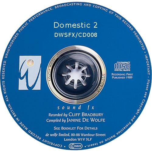 Sound Ideas Sampled CD: De Wolfe Library - Domestic 2 SS-DWFX-08
