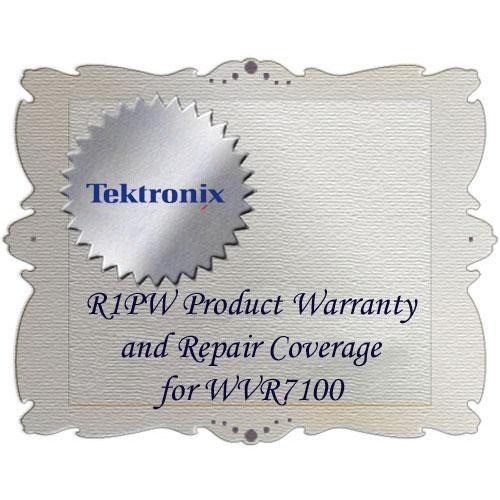 Tektronix R1PW Product Warranty and Repair Coverage WVR7100-R1PW