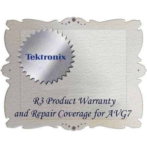 Tektronix R3 Product Warranty and Repair Coverage AVG7 R3