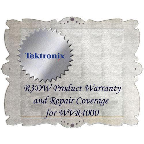 Tektronix R3DW Product Warranty and Repair Coverage WVR4000-R3DW