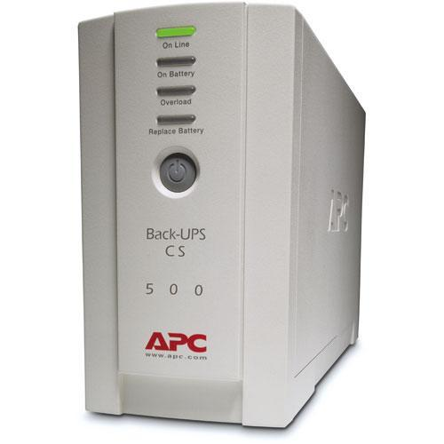 APC Back-UPS CS 500 6-Outlet Backup and Surge Protector, BK500