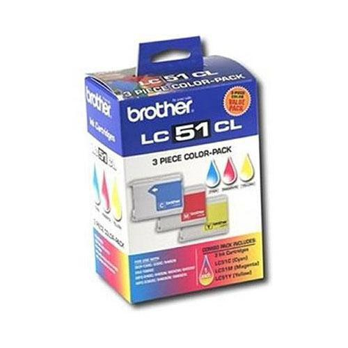 Brother LC-51C, LC-51Y & LC-51M Color Ink LC513PKS