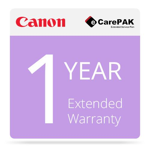 Canon 1-Year Extended Warranty (Care-Pak) For Canon 1708B041