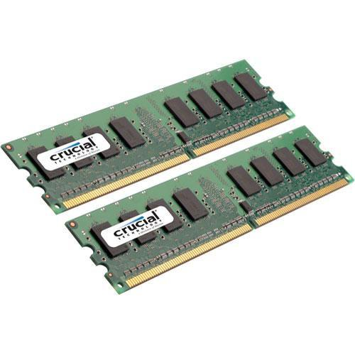 Crucial 2GB (2x1GB) DIMM Desktop Memory Upgrade CT2KIT12864AA800
