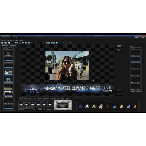 Datavideo CG-350 Character Generator for SD & HD CG-350 KIT