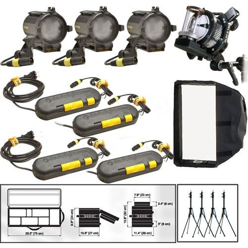 Dedolight Basic Explorer Option 1 Four-Light Kit S4UOPT1
