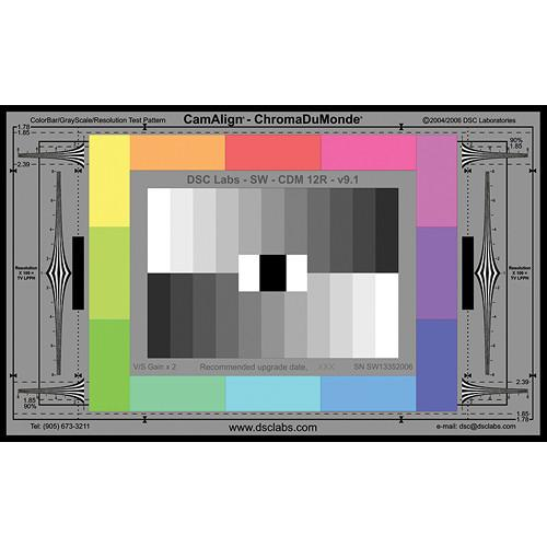 DSC Labs ChromaDuMonde 12-R Senior CamAlign Chip Chart CDM12RS